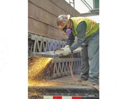 Image of bridge worker potentially exposed to lead