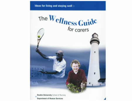"Photo of cover of ""The Wellness Guide for Carers"""
