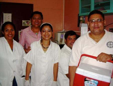 lab staff - Nicaragua