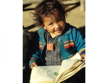 Photo of young child in Nepal