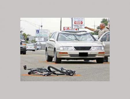 Photo of accident with car and bike